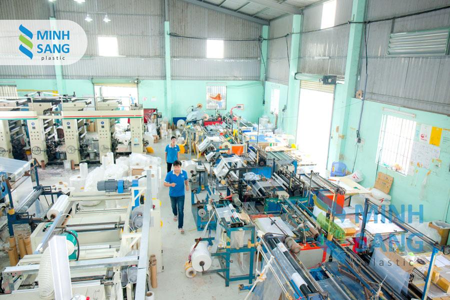 nhà máy sản xuất bao bì của Minh Sang