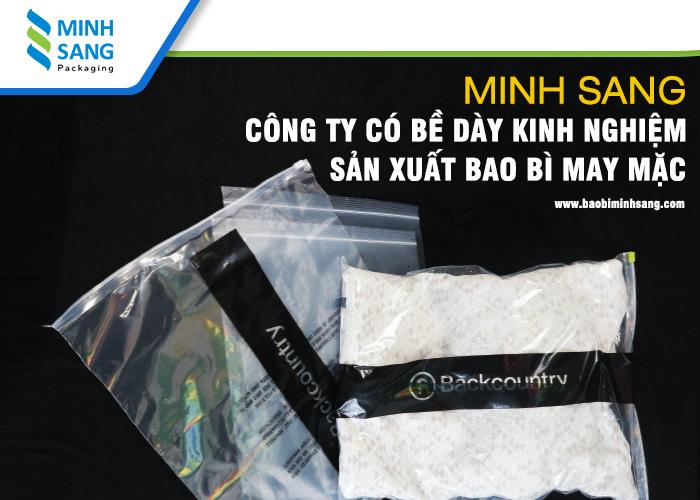 Minh Sang - Công ty có bề dày kinh nghiệm sản xuất bao bì may mặc
