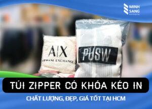 Túi Zipper có khóa kéo in chất lượng, đẹp, giá tốt tại HCM
