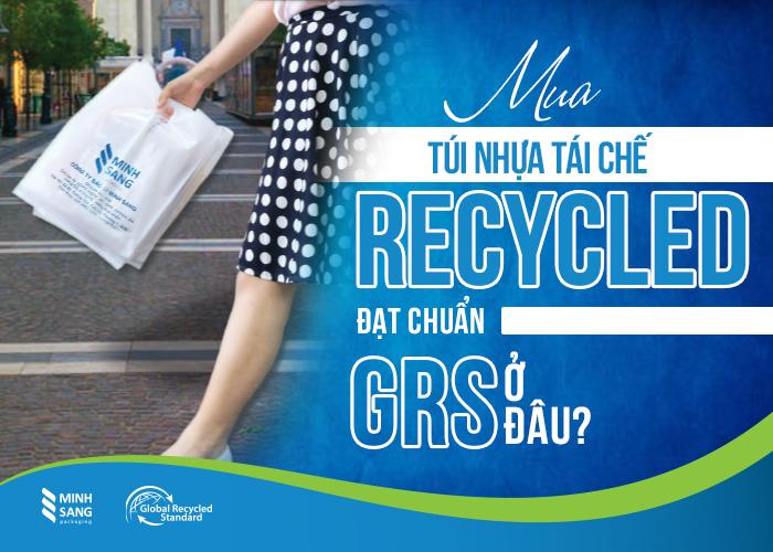 Mua túi nhựa tái chế Recycled đạt tiêu chuẩn GRS ở đâu uy tín?