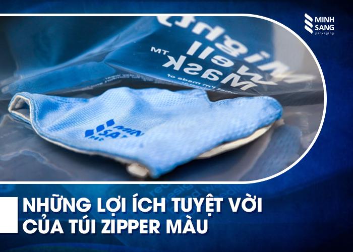 Những lợi ích tuyệt vời của túi zipper màu
