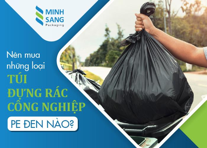 túi đựng rác công nghiệp PE đen